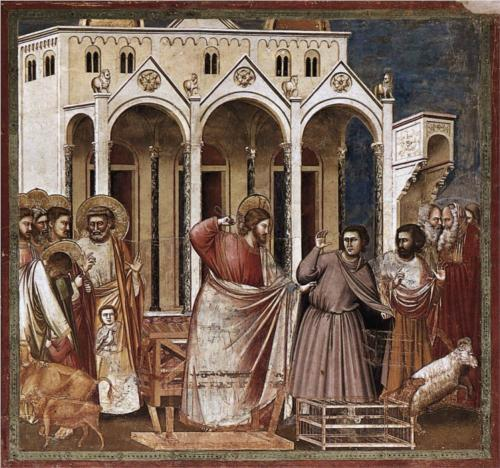 Christ expels money-changers