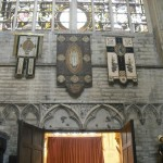This is another common theme in Belgian churches...Tapestries on the wall.