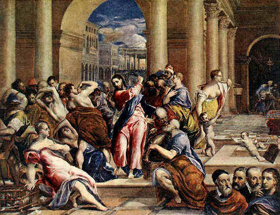 Cleansing of the Temple, El Greco (1591)