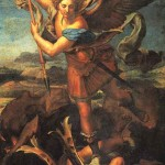 "Raphael's ""Michael""--a nice image for both the spiritual battle and the spiritual war"