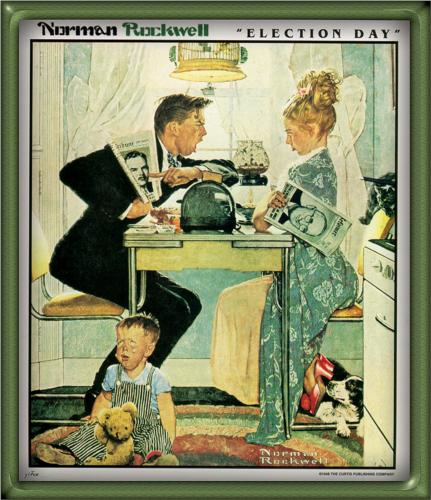 election-day normanrockwell