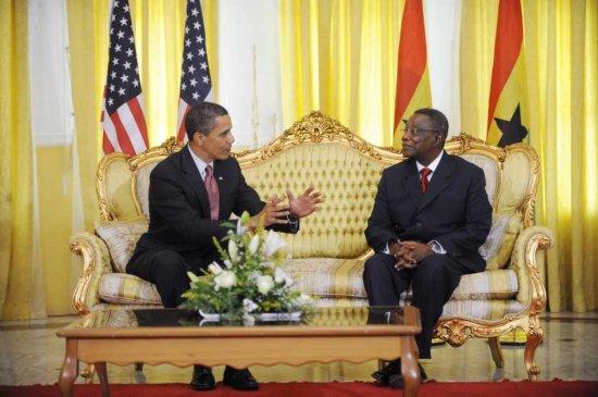 President Atta Mills and President Obama