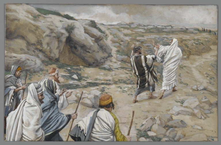 """Get Thee Behind Me Satan"" by James Tissot. Even Christ's closest friends, the apostles, did not get why He had to die as He did."