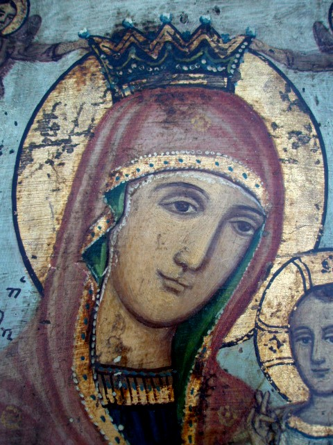 Mary, Icon of the Holy Spirit by Deacon Antonio