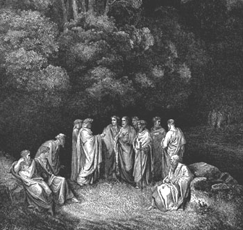 Gustave Dore's rendering of Dante's first circle of Hell, in which lived the virtuous damned.