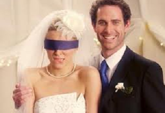 Marriage blindfold