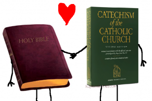 Dual Wielding the Bible and Catechism
