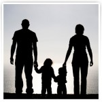 family_holding_hands silhouette