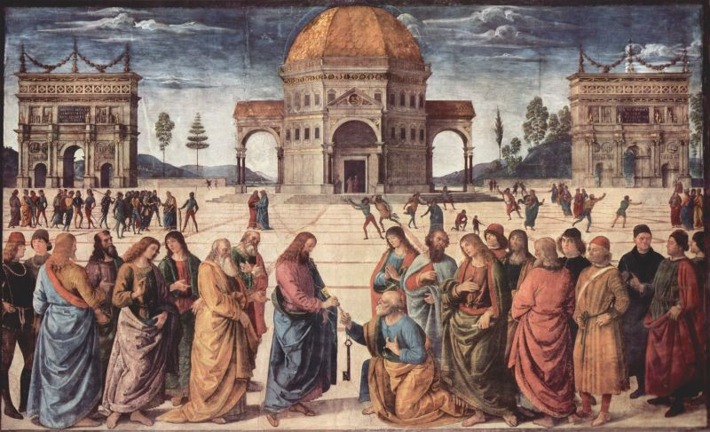 Christ keys to St Peter by Pietro Perugino