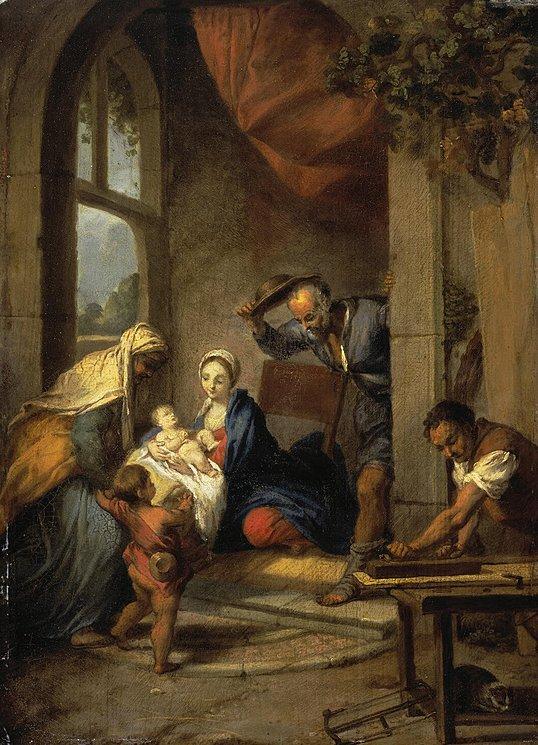 Nicolas Vleughels, Holy Family (1729)