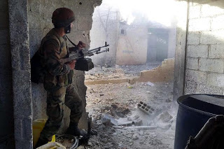 SYRIA SOLDIER DAMASCUS --- USED 11-02-13