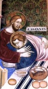 St. John Resting on Jesus, Sacro Speco Monastery at Subiaco, Fresco
