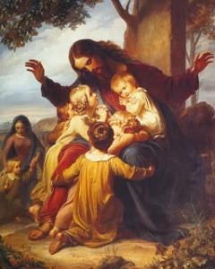 Jesus and the Little Children, Vogel Von Vogelstein (1788-1868)