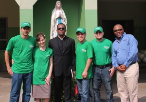 The Crew: Sam and Rachel Zamarron, Father Maurice Emelu, John-Anthony Jimenez, Luis Avila, George Wirnkar. Image courtesy of Word for a Wounded World