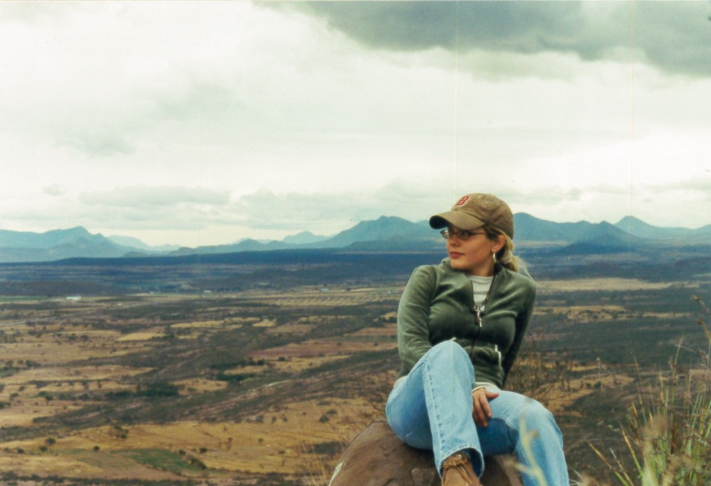 Sarah on Mission in Mexico on Mountian