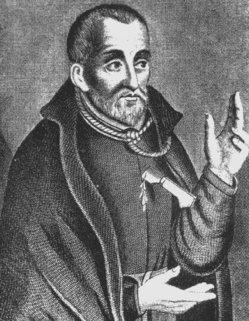Saint Edmund Campion, martyred at Tyburn, England, 1581.