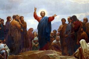 Jesus Christ Preaching the Sermon of the Beatitudes, by Henrik Olrik