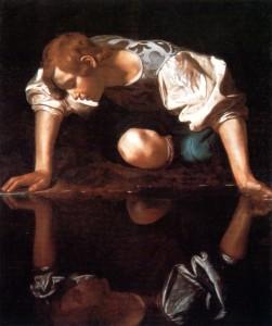 narcisismo-caravaggio-narciso