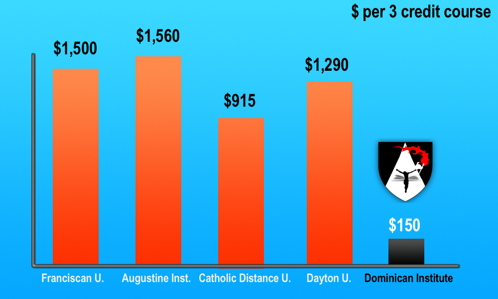 Comparison between DI and other Catholic higher education institutions