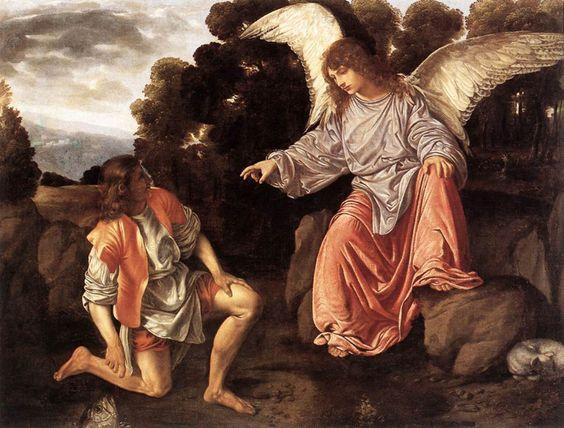 Archangel Raphael & Tobias. Girolamo Savoldo, c. 1500