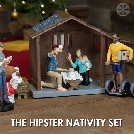 hipster nativity