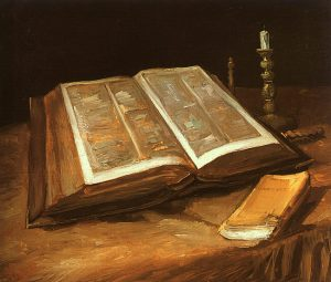 Still Life with Bible, Vincent van Gogh (1885)