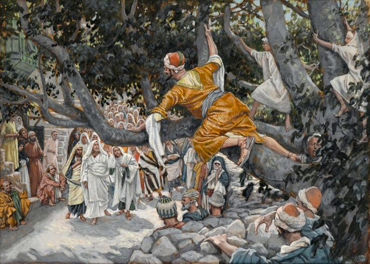 "J.J. Tissot, ""Zacchaeus in the Sycamore Awaiting the Passage of Jesus"""