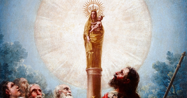 """Francisco de Goya (1746-1828), """"El apóstol Santiago y sus discípulos adorando a la Virgen del Pilar"""""""